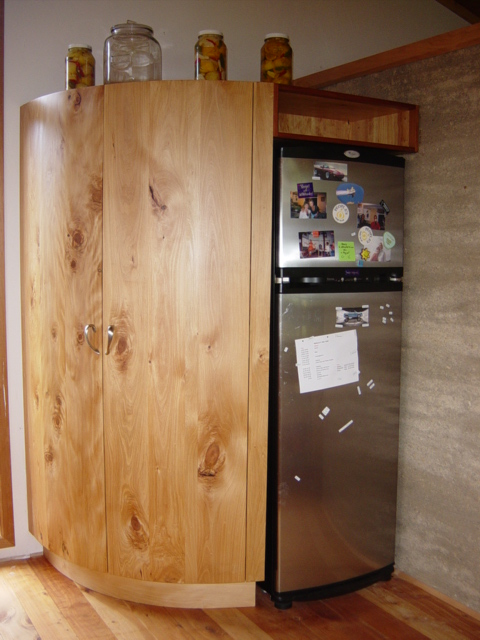 11 Rounded totara pantry doors