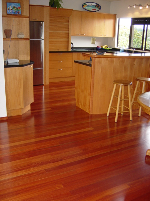 2 Red gum saligna floor macrocarpa kitchen