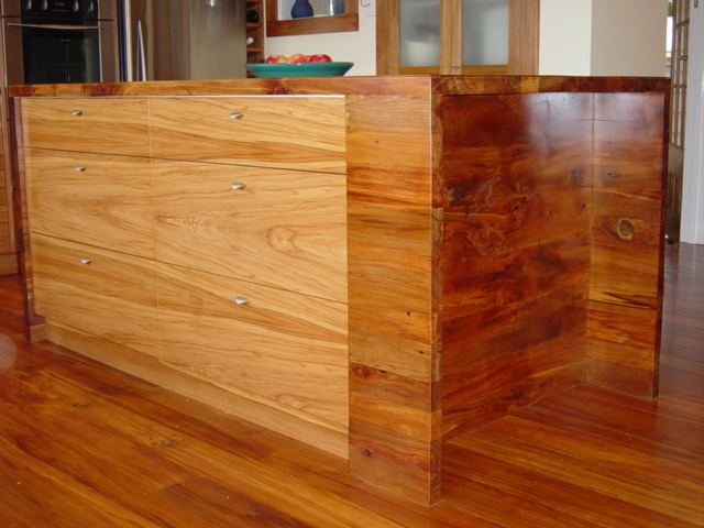 2a recycled timber island.