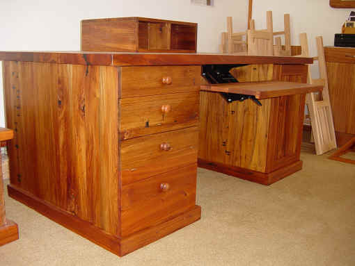 6 Recycled rimu desk