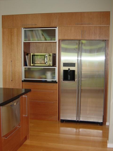 8 Double fridge and  overhead cupboards
