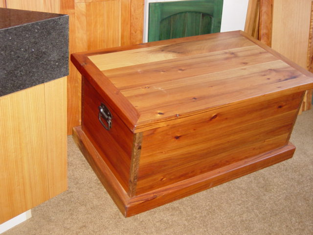 Tasmanian blackwood chest with copper trim