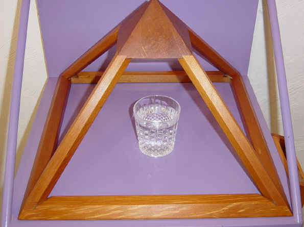 WATER kept under the pyramid. Taste & smell the difference